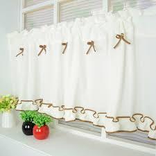 Halb Vorhang Fenster Vorhang Bowknot Spitze Dekoration Für Küche
