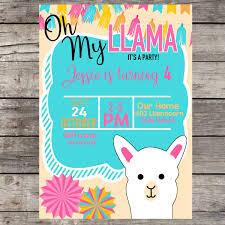 Blank Birthday Banner Llama Birthday Party Daisy Created