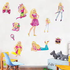pack barbie girls wall stickers vinyl decal art mural removable nursery decor gift decor wall sticker decor wall stickers from almondor 46 27 dhgate com