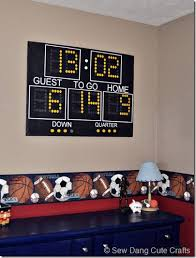 Birth Stats Scoreboard  Awesome Addition To A Sports Themed Room. My Son  Wants A Football Room Next, So This Will Come In Handy!