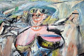 32b woman and bicycle willem de kooning 1952 53 close up whitney museum of american art new york city