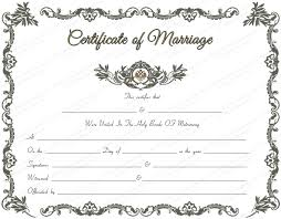 Certificate Outline Marriage Certificate Template 22 Editable For Word Pdf
