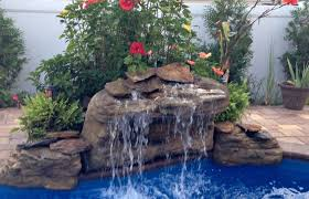 home elements and style medium size maldives swimming pool waterfalls kit with big stone and large