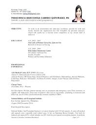 Resume Job Description Adorable Resume Examples For Rn Jobs With Job Description Job Description