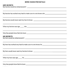 How To Make A Character Chart Writers Journal Sketching Minor Characters Zoe Burton