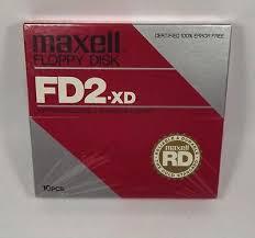 Diskette Floppy Disk 8 Inch Fd2 Xd Mfr Fdx Xd Maxell