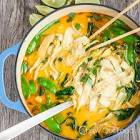 asian comfort food  coconut curry chicken noodle soup