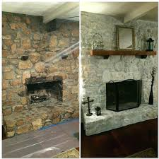 painted rock fireplace white wash rock fireplace white primer brush on and dab with a wash painted rock fireplace white
