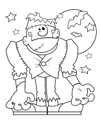 Halloween Monster Coloring Pages Camelliacottageinfo