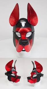 leather retriever puppy mask 16