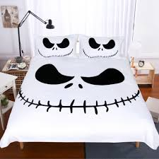 white and black bed sheets. Exellent White Happy Halloween Bedding Set Black And White Nightmare Before Christmas Cool  Printed Bed Linen Soft Duvet Cover With Pillow Case Satin  To Sheets