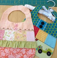 Sweet and Scrappy Baby Bibs...adorable!! | quilt | Pinterest ... & Adorable bibs: pattern for sale----- Scrappy baby bib PDF pattern by  sewithit on Etsy. Adamdwight.com