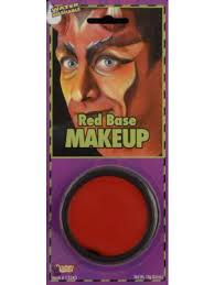 grease paint base makeup red