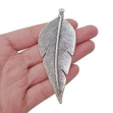 details about 5 x tibetan silver large leaf charms pendants for jewellery making findings 90mm