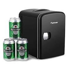 mini fridge office. Pathfinder Portable Car Refrigerator Mini Fridge Cooler\u0026Warmer 4 L/6 Cans, 110V\u002612V Power For Office