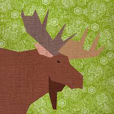 Moose Paper quilt block paper pieced quilt pattern PDF & Moose Paper quilt block, paper pieced quilt pattern, PDF pattern, instant  download, pieced quilt block pattern PDF, woodland pattern Adamdwight.com