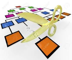 Gold Org Chart A Pair Of Gold Scissors Are Cutting A Position From A Companys
