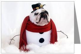 English BullDog Christmas...... - Clip Art Library