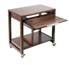 mobile desk cart computer wheels portable furniture table b38