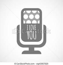 Isolated Mic With The Text I Love You Illustration Of An Isolated Enchanting Images About Hw I Mic To Be Inlove