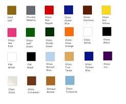 Krylon Color Chart Krylon Plastic Paint Colors