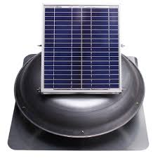 ventamatic cool attic 433 cfm grey solar powered roof attic vent with dome mounted panel