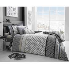 grey geometric bedding geo print pattern bedding set duvet set tj hughes