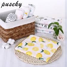 Puseky <b>Flamingo Rose fruits</b> Print Muslin Baby Blankets Bedding ...
