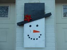 diy wooden reversible scarecrow snowman decoration