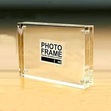 magnetic acrylic photo frames free standing block with by 1 refrigerator