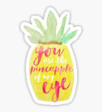 pineapple tumblr drawing. you are the pineapple of my eye sticker tumblr drawing