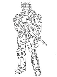 Halo Coloring Pages Master Chief Page Spartan Top Rated Pa