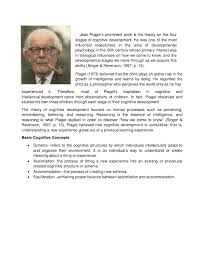 written report of jean piaget s theory jean piaget s