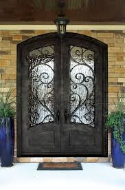 byzantine burlwood wrought iron door w