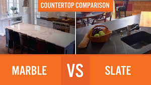Marble Vs Granite Kitchen Countertops Marble Vs Slate Countertop Comparison Youtube