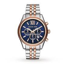 michael kors chronograph navy dial two tone unisex watch mens michael kors chronograph navy dial two tone unisex watch