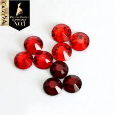Crystal Castle <b>All Size Light Siam</b> Garnet Red Flatback Iron On ...