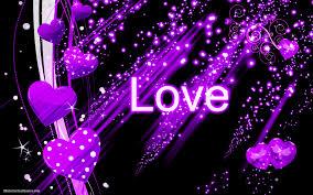 Dark Purple Black Sky Pink And Black Heart Hd Hd