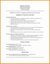 Shipping And Receiving Resume Resume Missing Years Therpgmovie 98