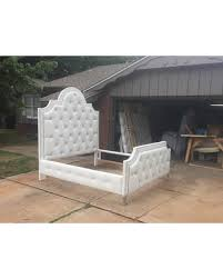 tufted bed extra tall headboard upholstered frame crystal button california king queen full twin pick tufted bed frame e92