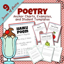 Types Of Poetry Anchor Chart Poetry Unit Study Anchor Charts Examples And Template For 9 Forms Of Poetry