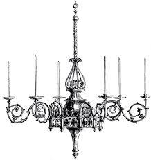 gothic vintage image graphics the fairy vintage art chandelier clip chandelier