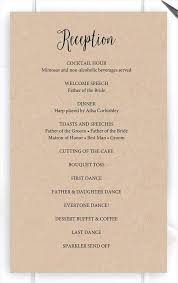 Wedding Reception Program Templates Wedding Reception Ceremony Program Onourway Co