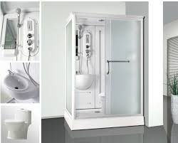 combo function rectangle indoor portable shower stall and toilet n63