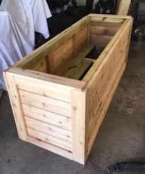 cedar garden box. Cedar Garden Box Plans Backyard Diy Series Part Iiii Wood Planter Ashley R