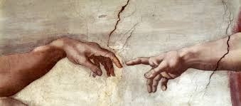 the original sin lapham s quarterly creation of adam detail sistine chapel ceiling by michelangelo c