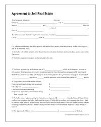 Sale Agreement Forms Agreement To Sell Real Estate Forms And Instructions