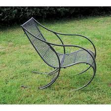 metal garden rocking chair off 63