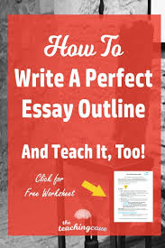 how to write an essay outline teach it too the teaching cove how to write an essay outline