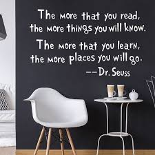 dr seuss the more you read wall decal removable wall sticker home decor